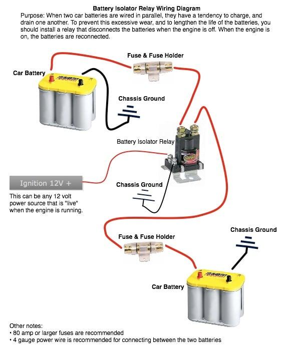 Battery Isolator Second, Noco Battery Isolator Wiring Diagram